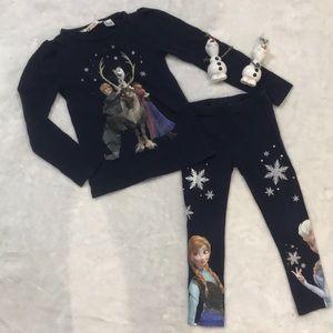 Blue Frozen shirt and leggings
